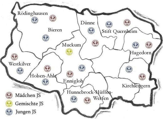 Karte der Jungscharen